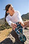 Female Runner Stretching    Stock Photo - Premium Rights-Managed, Artist: Ty Milford, Code: 700-02125584