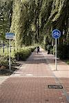 Bike Path, Bolsward, Netherlands    Stock Photo - Premium Rights-Managed, Artist: Derek Shapton, Code: 700-02129117