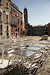 Patio Tables and Chairs, Campo Sant' Angelo, Venice, Italy    Stock Photo - Premium Rights-Managed, Artist: Derek Shapton, Code: 700-02129135