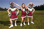 Girls on a cheerleading squad Stock Photo - Premium Royalty-Free, Artist: SimplyMui, Code: 673-02139177