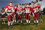 Boys football team and cheerleaders Stock Photo - Premium Royalty-Free, Artist: Aflo Relax, Code: 673-02139178
