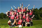 Female soccer team celebrating Stock Photo - Premium Royalty-Free, Artist: Cusp and Flirt, Code: 673-02139183