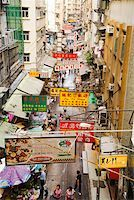 View of busy Hong Kong street from above Stock Photo - Premium Royalty-Freenull, Code: 673-02140651