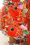 Chinese Lunar New Year decorations in market, Tianjin, China Stock Photo - Premium Royalty-Free, Artist: R. Ian Lloyd, Code: 673-02142602