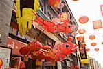 Chinese Lunar New Year decorations in market, Tianjin, China Stock Photo - Premium Royalty-Free, Artist: Robert Harding Images, Code: 673-02142611