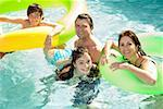 Family in swimming pool Stock Photo - Premium Royalty-Free, Artist: Guntmar Fritz, Code: 673-02143073
