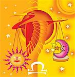 Libra, astrological sign with scale and bird Stock Photo - Premium Royalty-Freenull, Code: 645-02153309