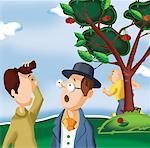 Two men talking in park Stock Photo - Premium Royalty-Freenull, Code: 645-02153447