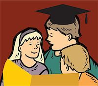 students learning cartoon - Students studying together Stock Photo - Premium Royalty-Freenull, Code: 645-02153473