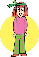 students learning cartoon - Close up view of girl forming I Stock Photo - Premium Royalty-Freenull, Code: 645-02153486