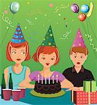 Children at birthday party Stock Photo - Premium Royalty-Free, Artist: Masterfile, Code: 645-02153680