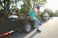 professional (pertains to traditional blue collar careers) - Landscaper    Stock Photo