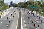 Ride for Heart Cyclists, Don Valley Parkway, Toronto, Ontario, Canada    Stock Photo - Premium Rights-Managed, Artist: Michael Mahovlich, Code: 700-02156922
