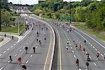 Ride for Heart Cyclists, Don Valley Parkway, Toronto, Ontario, Canada    Stock Photo - Premium Rights-Managed, Artist: Michael Mahovlich, Code: 700-02156923