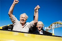 Couple on Roller Coaster, Santa Monica, California, USA    Stock Photo - Premium Rights-Managednull, Code: 700-02156947