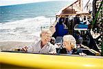 People on Roller Coaster, Santa Monica, California, USA