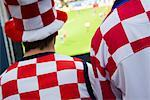 Croatian Football Fans, Salzburg, Salzburger Land, Austria    Stock Photo - Premium Rights-Managed, Artist: Bryan Reinhart, Code: 700-02159124