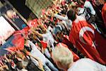 Turkish Football Fans Cheering in the Streets, Salzburg, Salzburger Land, Austria    Stock Photo - Premium Rights-Managed, Artist: Bryan Reinhart, Code: 700-02159126