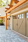 Driveway and Garage Doors of Home    Stock Photo - Premium Rights-Managed, Artist: David Papazian, Code: 700-02176420