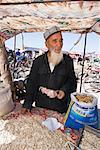 Peanut Dealer at Sunday Market, Kashgar, Xinjiang Autonomous Region, China