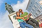 Young Couple with Map, Salzburg, Austria    Stock Photo - Premium Rights-Managed, Artist: Bryan Reinhart, Code: 700-02198129