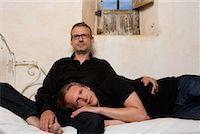 Couple on Bed    Stock Photo - Premium Rights-Managednull, Code: 700-02198273