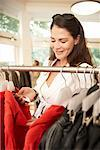Woman in Clothing Store    Stock Photo - Premium Rights-Managed, Artist: AL ACCARDO, Code: 700-02198359