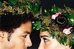 Portrait of Couple With Wreaths in Hair    Stock Photo - Premium Royalty-Free, Artist: Masterfile, Code: 600-02200303