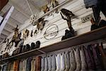 Rows of Cowboy Boots in Store