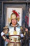 Chinese Man Wearing Traditional Costume, Jiayguguan Fortress, The Great Wall, China    Stock Photo - Premium Rights-Managed, Artist: F. Lukasseck, Code: 700-02200839