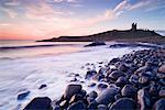 Dunstanburgh Castle at Dawn, Northumberland, England