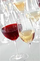 Glasses of different types of wine Stock Photo - Premium Royalty-Freenull, Code: 659-02211217