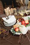 Small sleigh filled with cheese and apples for Christmas Stock Photo - Premium Royalty-Freenull, Code: 659-02213814