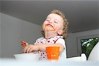 Baby Eating Spaghetti    Stock Photo - Premium Rights-Managednull, Code: 700-02216104