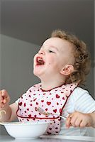 Baby Eating Spaghetti    Stock Photo - Premium Rights-Managednull, Code: 700-02216105