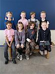 Portrait of Elementary School Students    Stock Photo - Premium Rights-Managed, Artist: Anders Hald, Code: 700-02217433