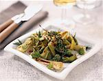 Leek and broad bean salad with bran Stock Photo - Premium Royalty-Free, Artist: Kathleen Finlay, Code: 652-02221220