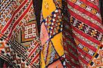 Close-Up of Carpets in Market, Morocco