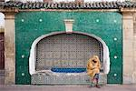 Man Sitting by Fountain, Morocco