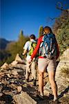 Hikers on Trail, Sabino Canyon, Arizona, USA    Stock Photo - Premium Rights-Managed, Artist: Ty Milford, Code: 700-02245388