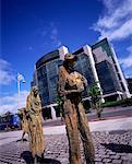Famine Memorial, Custom House Quay, Dublin, Ireland    Stock Photo - Premium Rights-Managed, Artist: IIC, Code: 832-02252727