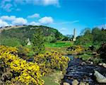Round Tower & St Kevins Chapel, Glendalough, Co Wicklow, Ireland    Stock Photo - Premium Rights-Managed, Artist: IIC, Code: 832-02252910