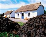 Traditional Cottages, Bog Village Museum, Glenbeigh Co Cork    Stock Photo - Premium Rights-Managed, Artist: IIC, Code: 832-02252922