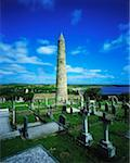 Ardmore Round Tower and Cathedral Ardmore, Co Waterford, Ireland, round tower built in the 12th Century