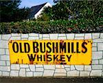 Co Antrim, Sign For Bushmills    Stock Photo - Premium Rights-Managed, Artist: IIC, Code: 832-02254443