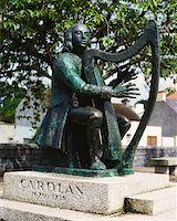 Co Leitrim, Carolan Statue, Mohill    Stock Photo - Premium Rights-Managednull, Code: 832-02254555