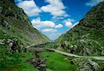 Gap of Dunloe, Killarney National Park, County Kerry, Ireland; Cyclists in the distance    Stock Photo - Premium Rights-Managed, Artist: IIC, Code: 832-02255419