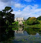 Powerscourt Estate, County Wicklow, Ireland; Pond on large estate    Stock Photo - Premium Rights-Managed, Artist: IIC, Code: 832-02255558
