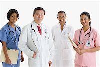 Portrait of doctors and nurses Stock Photo - Premium Royalty-Freenull, Code: 614-02258572