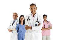 Portrait of doctors and nurses Stock Photo - Premium Royalty-Freenull, Code: 614-02258583